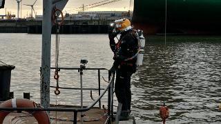 Stahlträger-Montage Hafen Hamburg