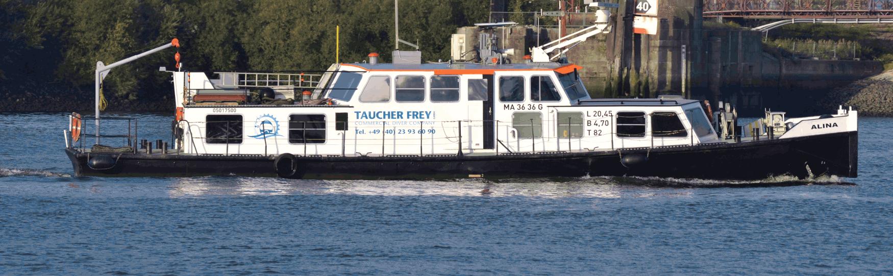Alina - boat of Taucher Frey GmbH Hamburg